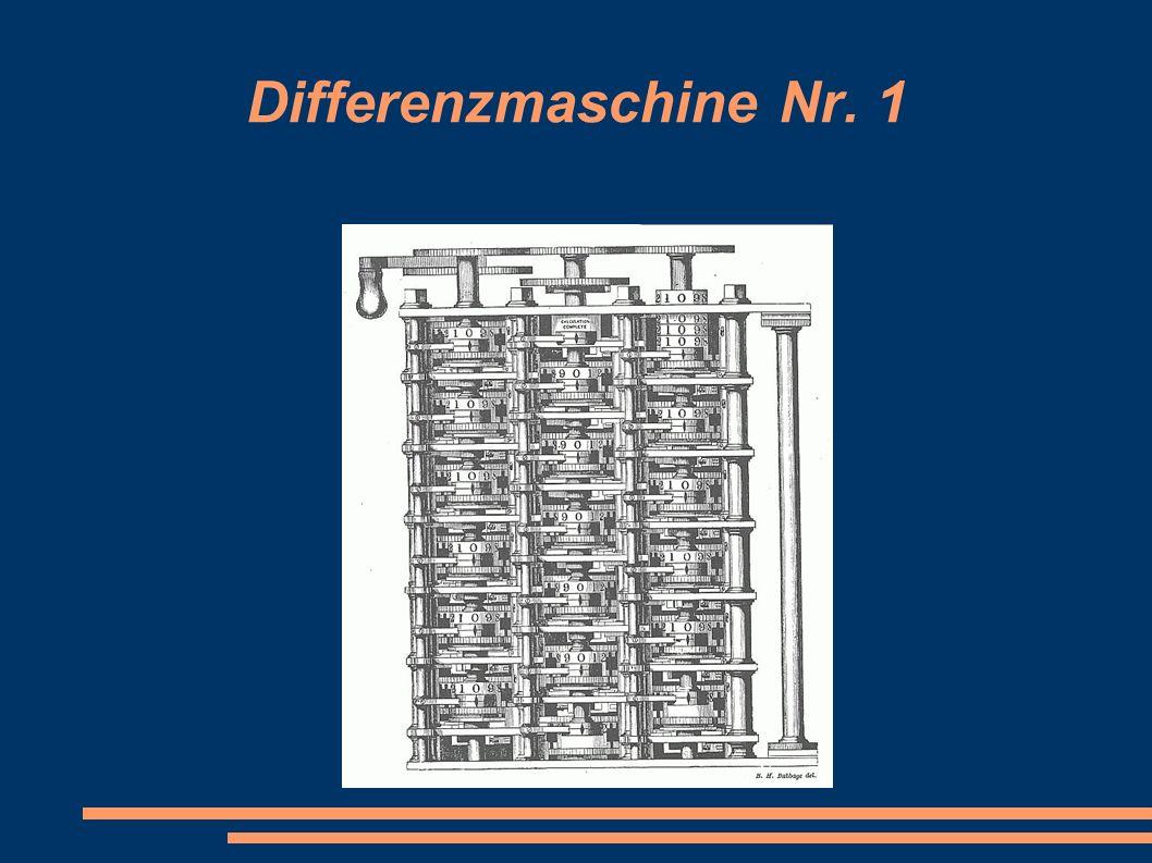 Differenzmaschine Nr. 1