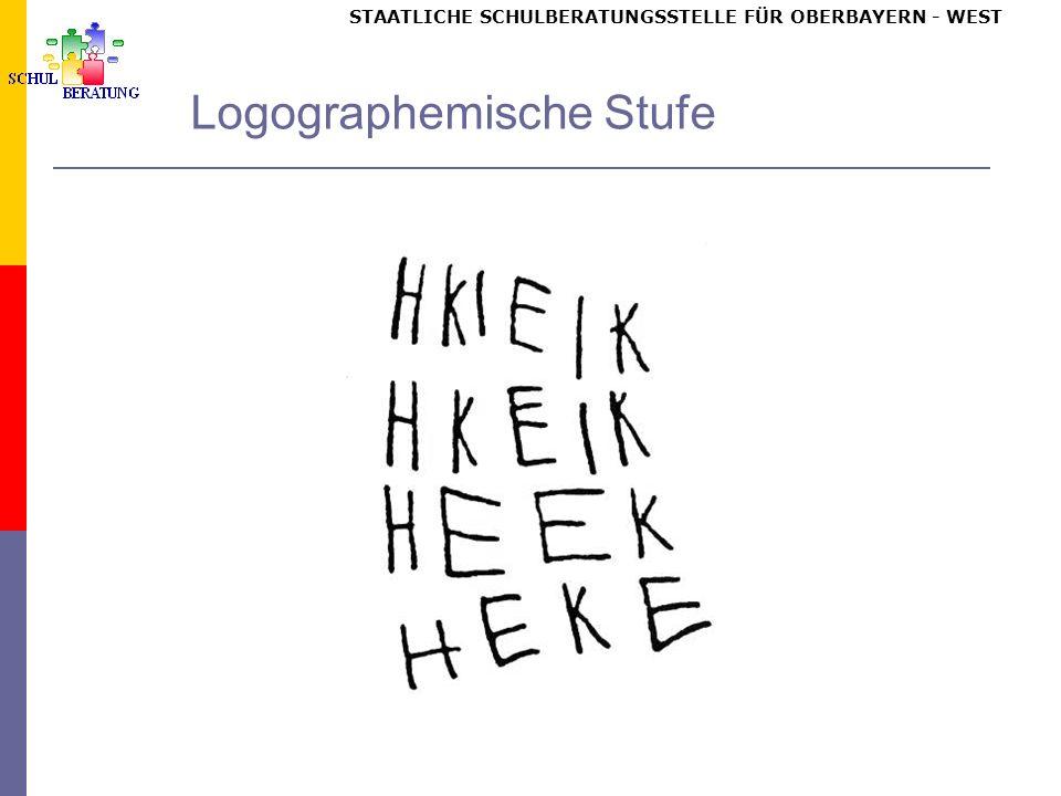 STAATLICHE SCHULBERATUNGSSTELLE FÜR OBERBAYERN WEST Logographemische Stufe