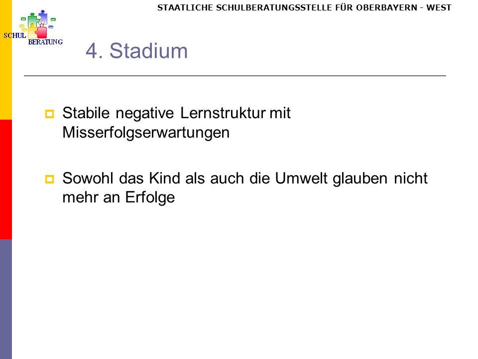 STAATLICHE SCHULBERATUNGSSTELLE FÜR OBERBAYERN WEST 4.