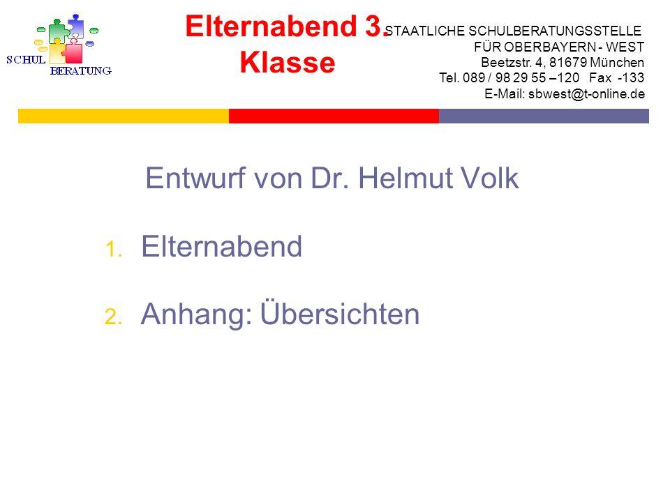 STAATLICHE SCHULBERATUNGSSTELLE FÜR OBERBAYERN WEST Das bayerische Schulsystem Viele Wege führen zum Ziel Elternabend für die 3.