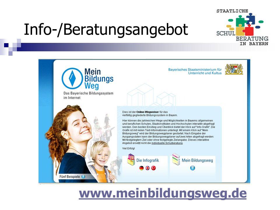 Info-/Beratungsangebot www.meinbildungsweg.de
