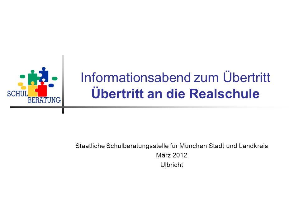 Staatliche Schulberatung, Ulbricht 03/2012 2 Die Bayerische Realschule In Bayern ist die sechsstufige Realschule (R6) die Regelschule.