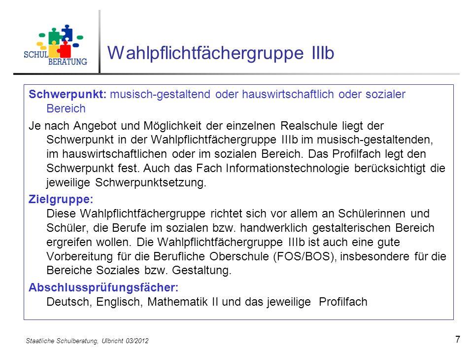 Staatliche Schulberatung, Ulbricht 03/2012 18 Übertrittsbestimmungen nach der 4.