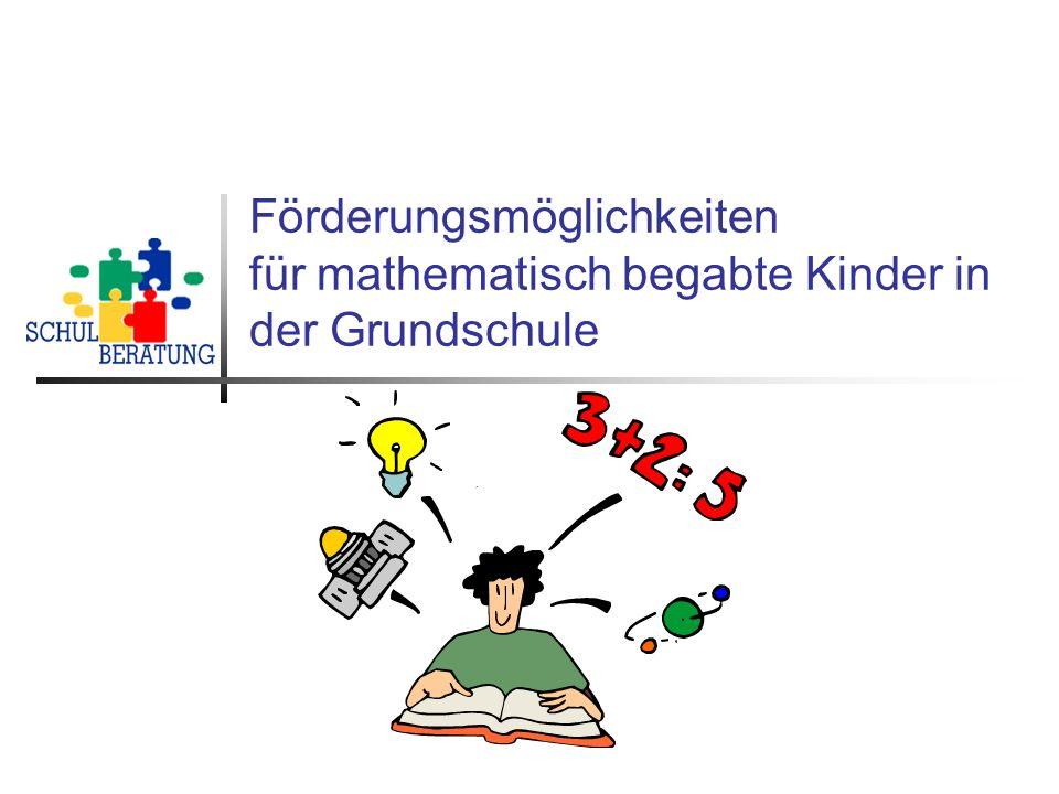 Förderungsmöglichkeiten für mathematisch begabte Kinder in der Grundschule