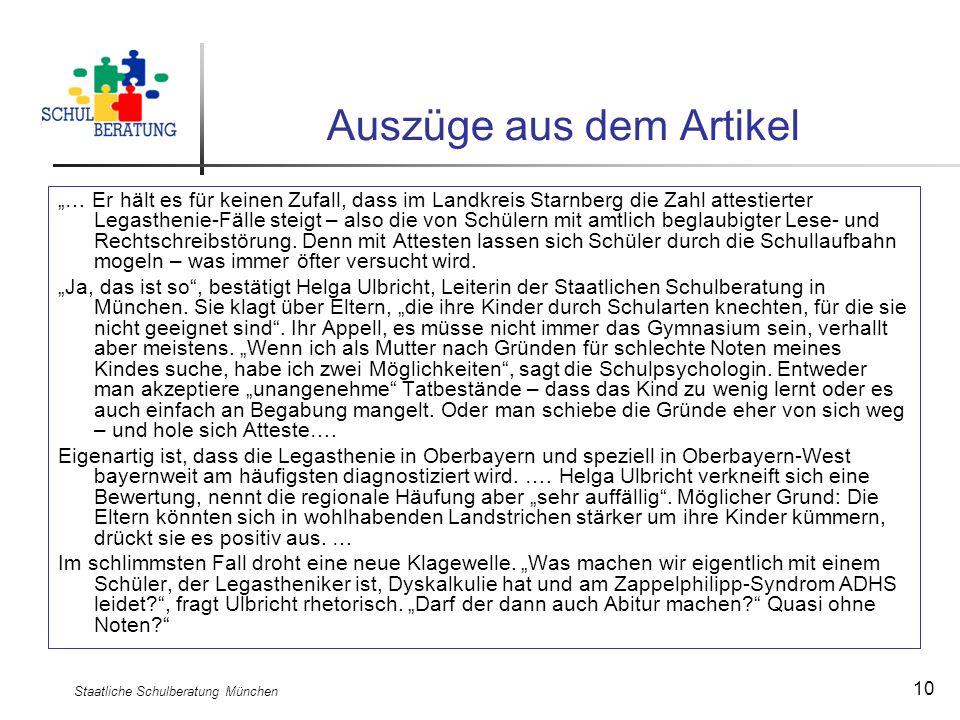 Staatliche Schulberatung München 10 Auszüge aus dem Artikel … Er hält es für keinen Zufall, dass im Landkreis Starnberg die Zahl attestierter Legasthe