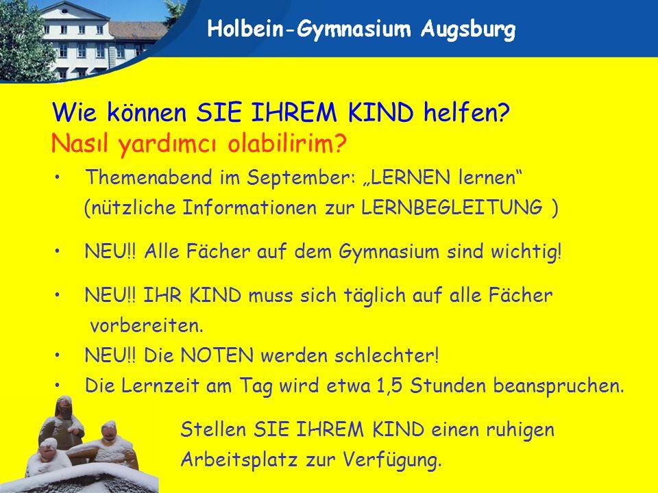 Themenabend im September: LERNEN lernen (nützliche Informationen zur LERNBEGLEITUNG ) NEU!! Alle Fächer auf dem Gymnasium sind wichtig! NEU!! IHR KIND