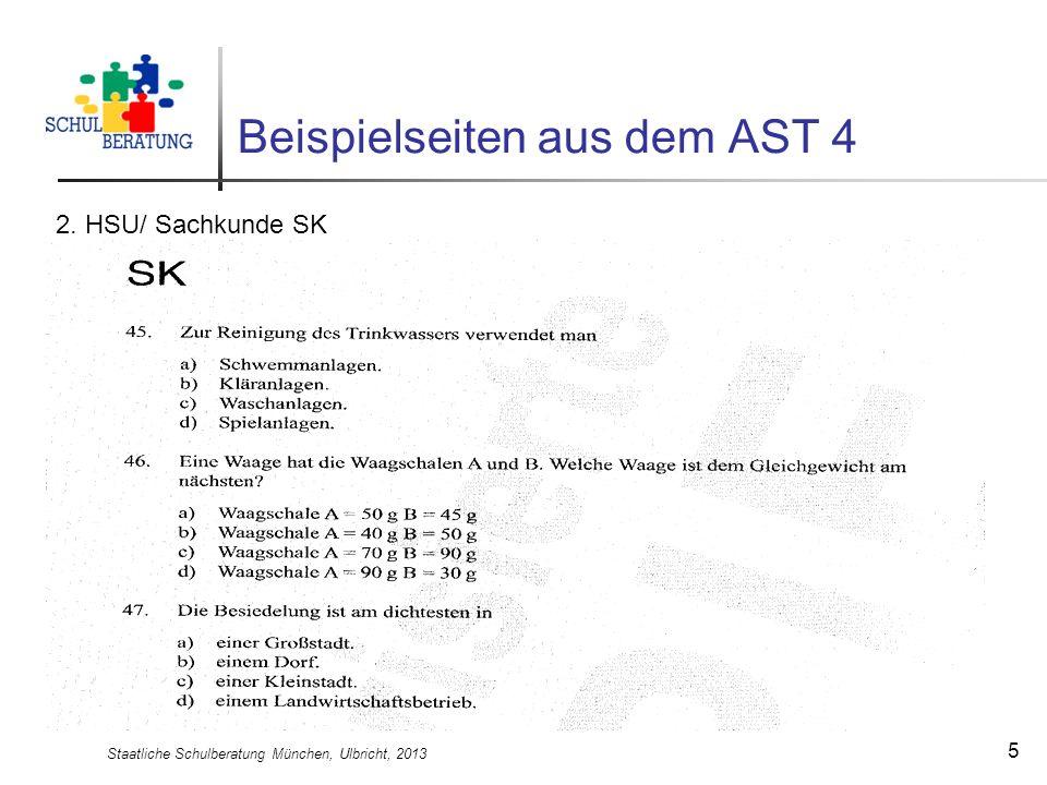 Staatliche Schulberatung München, Ulbricht, 2013 5 Beispielseiten aus dem AST 4 2. HSU/ Sachkunde SK