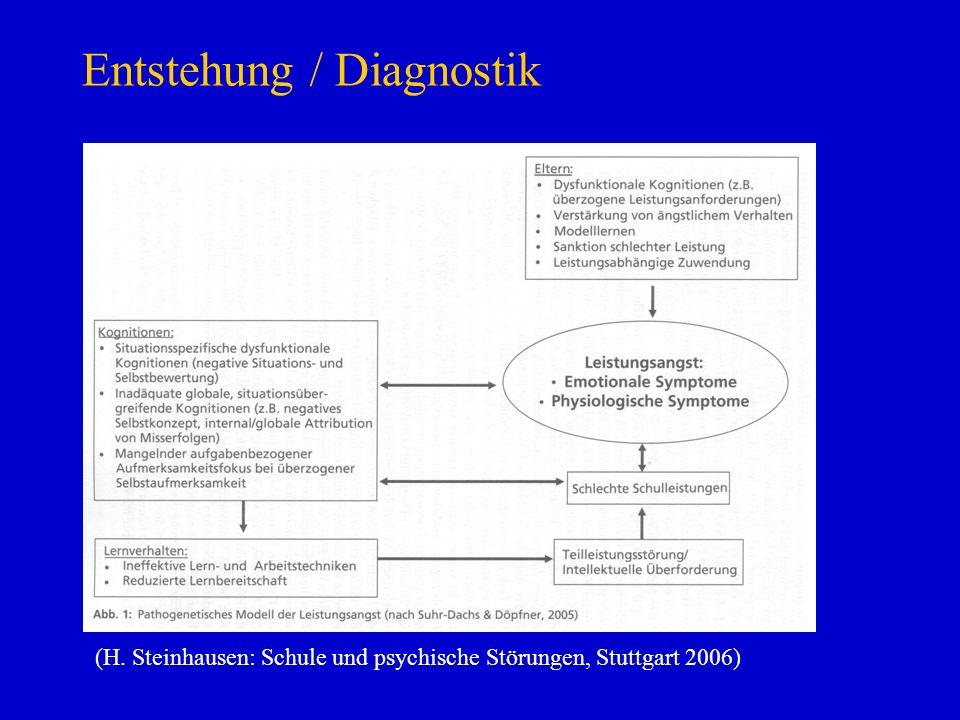 Entstehung / Diagnostik (H. Steinhausen: Schule und psychische Störungen, Stuttgart 2006)