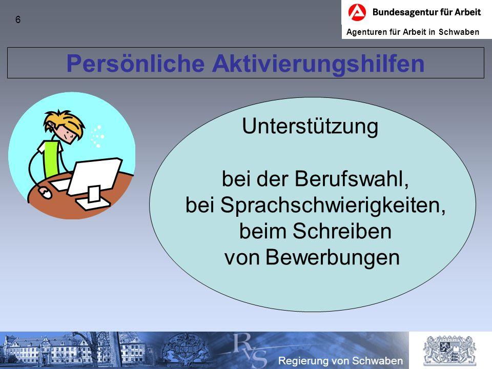 7 Regierung von Schwaben Keine BvB, kein … – Null Problem, denn … … die Berufssschule hat für mich ein passendes Brückenangebot.