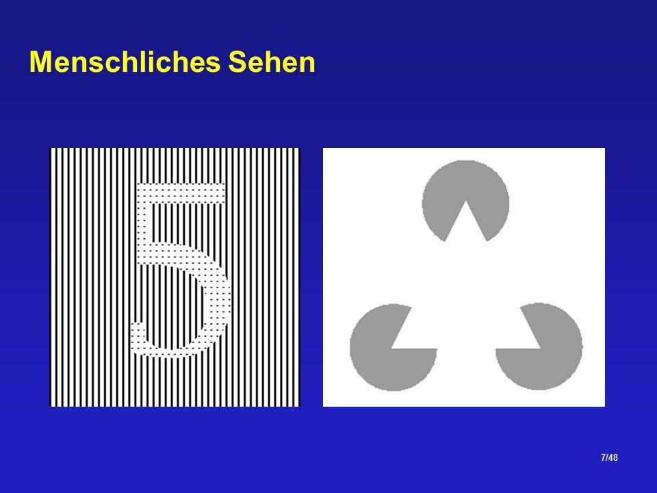 38/48 Nachbarschaften Ein Pixel p hat vier horizontale und vertikale Nachbarpixel ( 4-Nachbarn ) vier diagonalen Nachbarpixel beide zusammen werden als 8-Nachbarn oder einfach Nachbarn bezeichnet