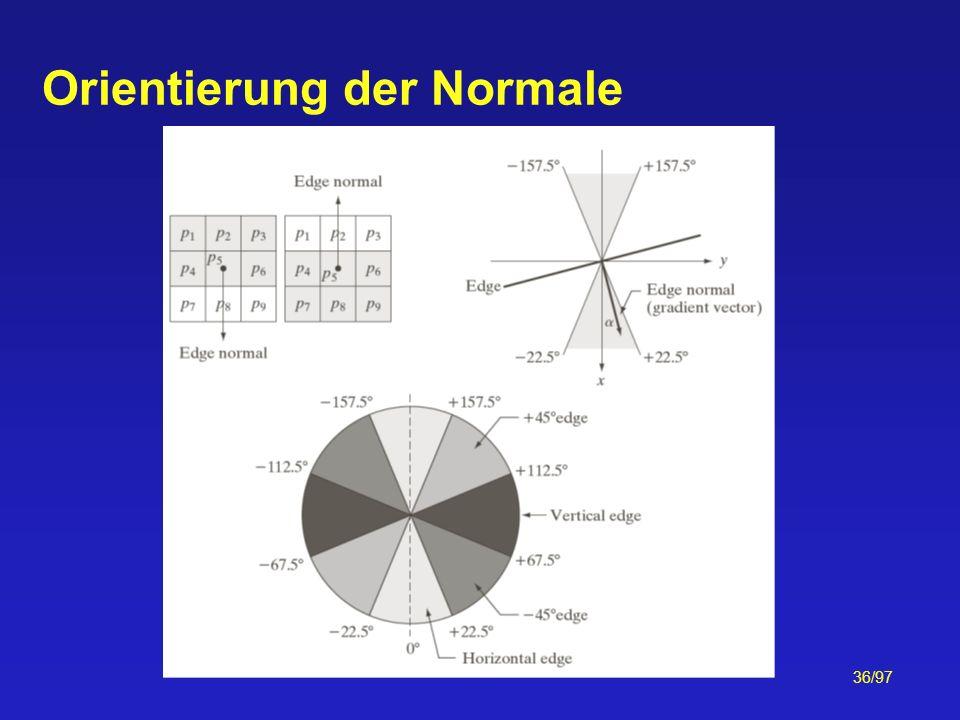 36/97 Orientierung der Normale