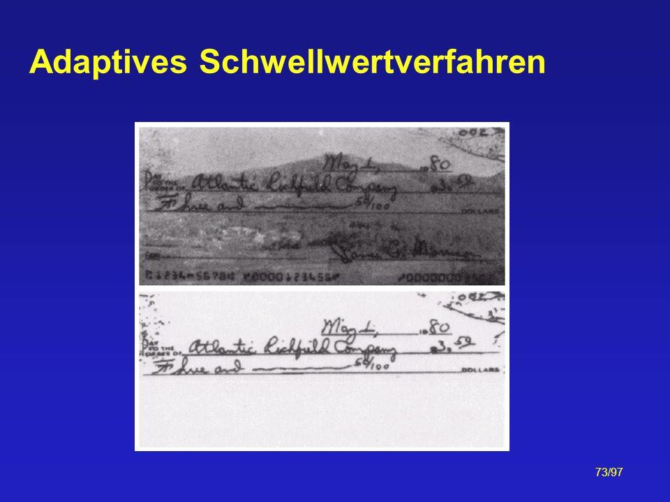 73/97 Adaptives Schwellwertverfahren
