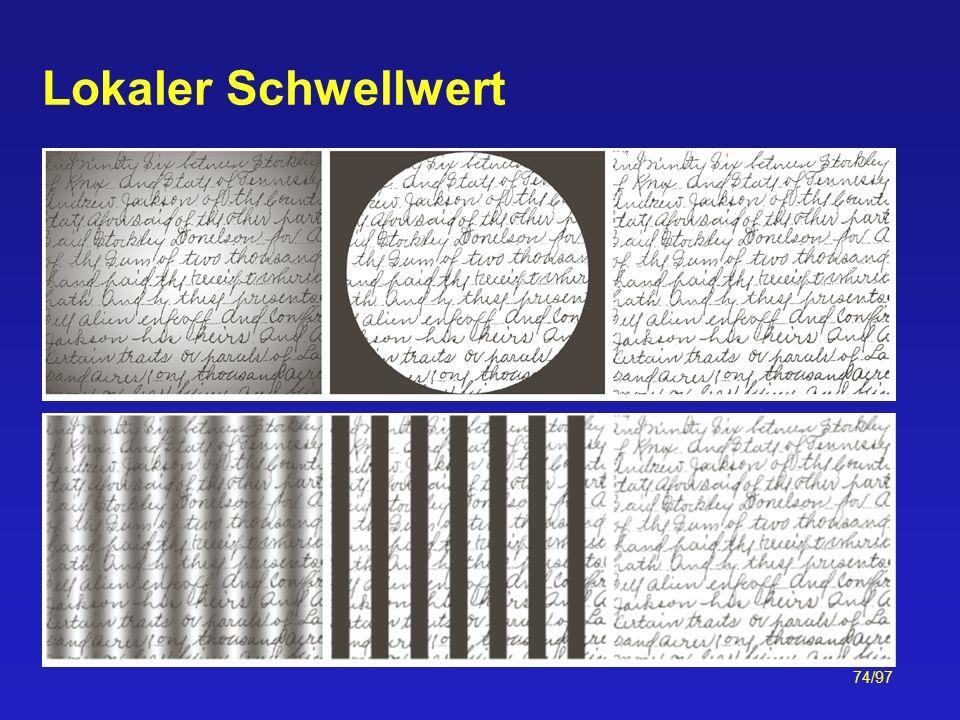 74/97 Lokaler Schwellwert