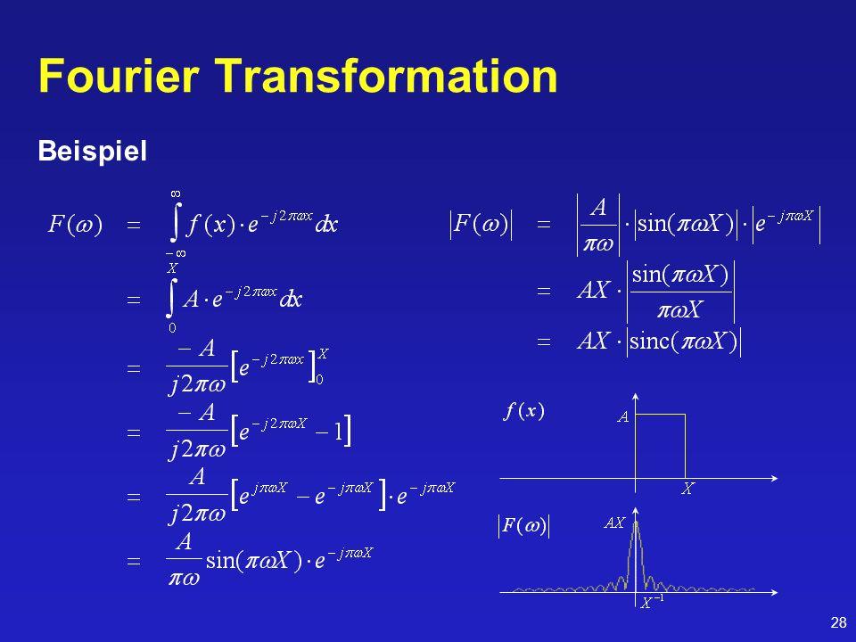 28 Fourier Transformation Beispiel