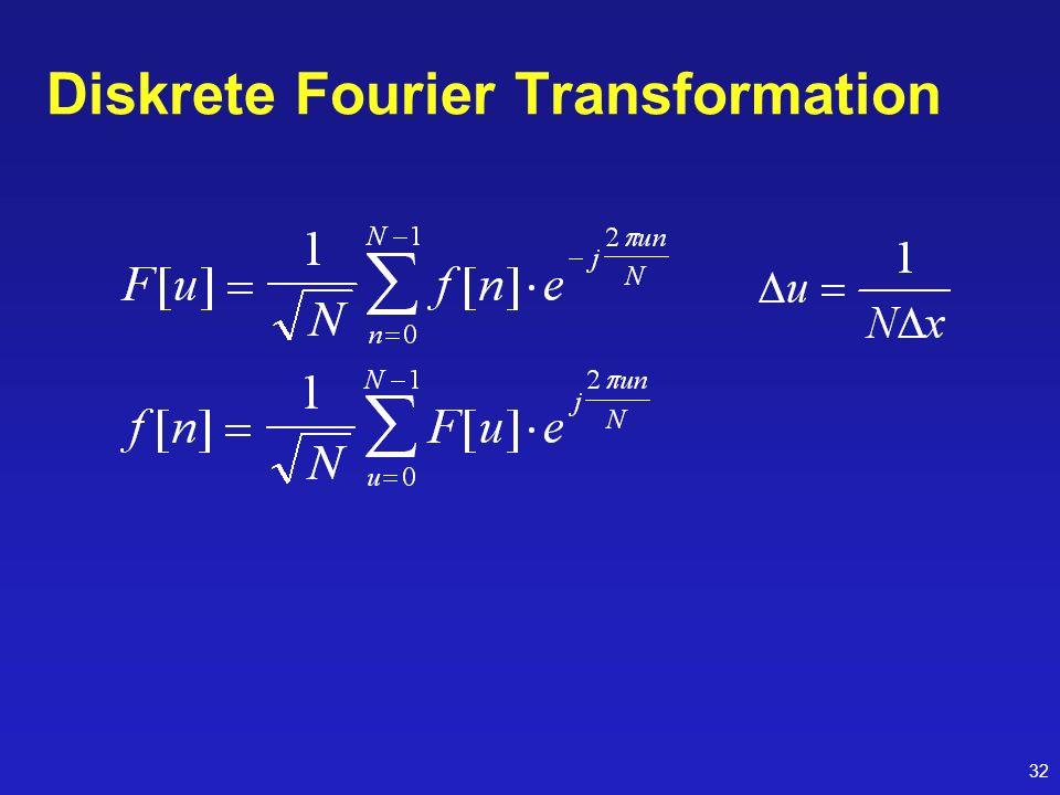 32 Diskrete Fourier Transformation