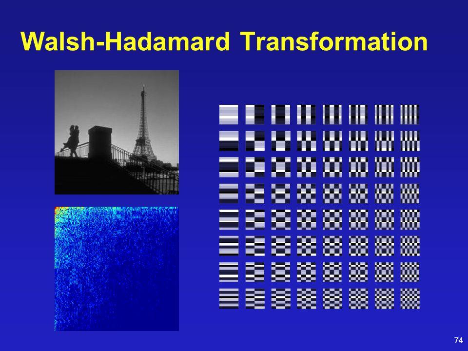 74 Walsh-Hadamard Transformation