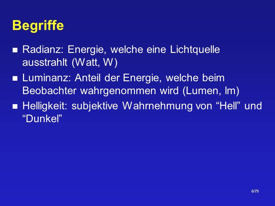 37/79 CIE-Normallichtquellen