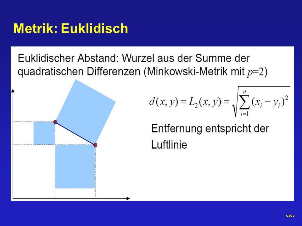 53/72 Metrik: Euklidisch