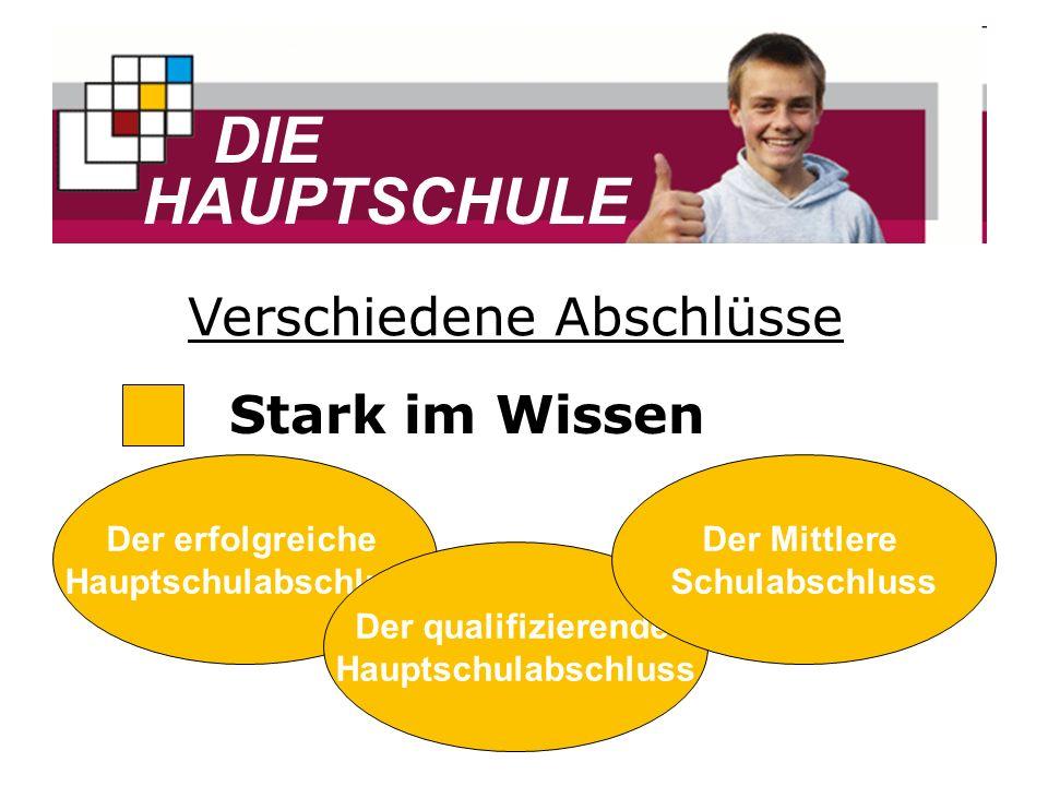 DIE HAUPTSCHULE Stark als Person Klassenlehrer- prinzip Soziales Lernen Tutorensystem Hohe Sozialkompetenz, z.B.