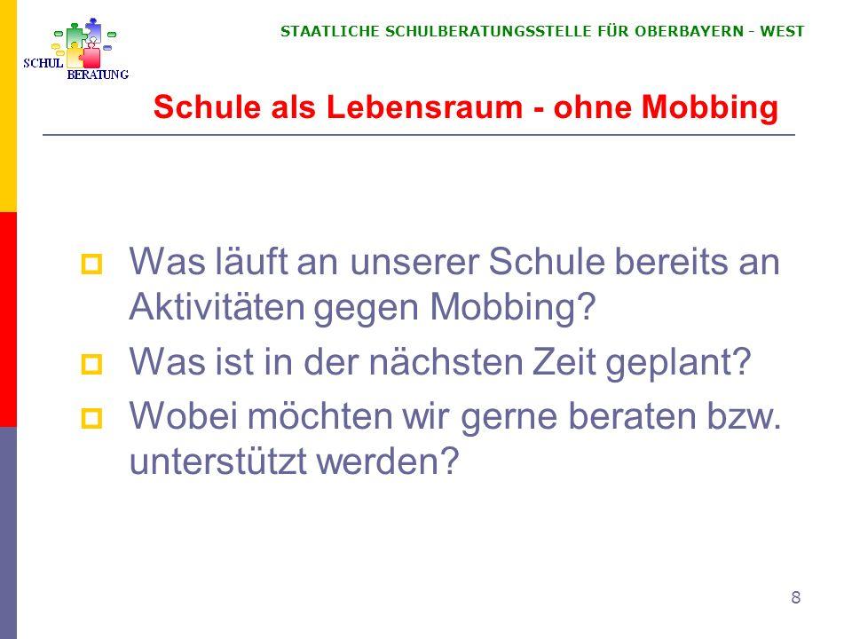 STAATLICHE SCHULBERATUNGSSTELLE FÜR OBERBAYERN WEST 39 Volksschule Grundschule, Mittelschule Grundschule: Eigenständige Schulart (BayEUG Art.