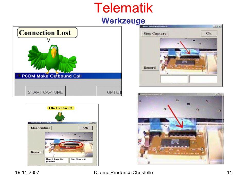 19.11.2007Dzomo Prudence Christelle11 Telematik Werkzeuge