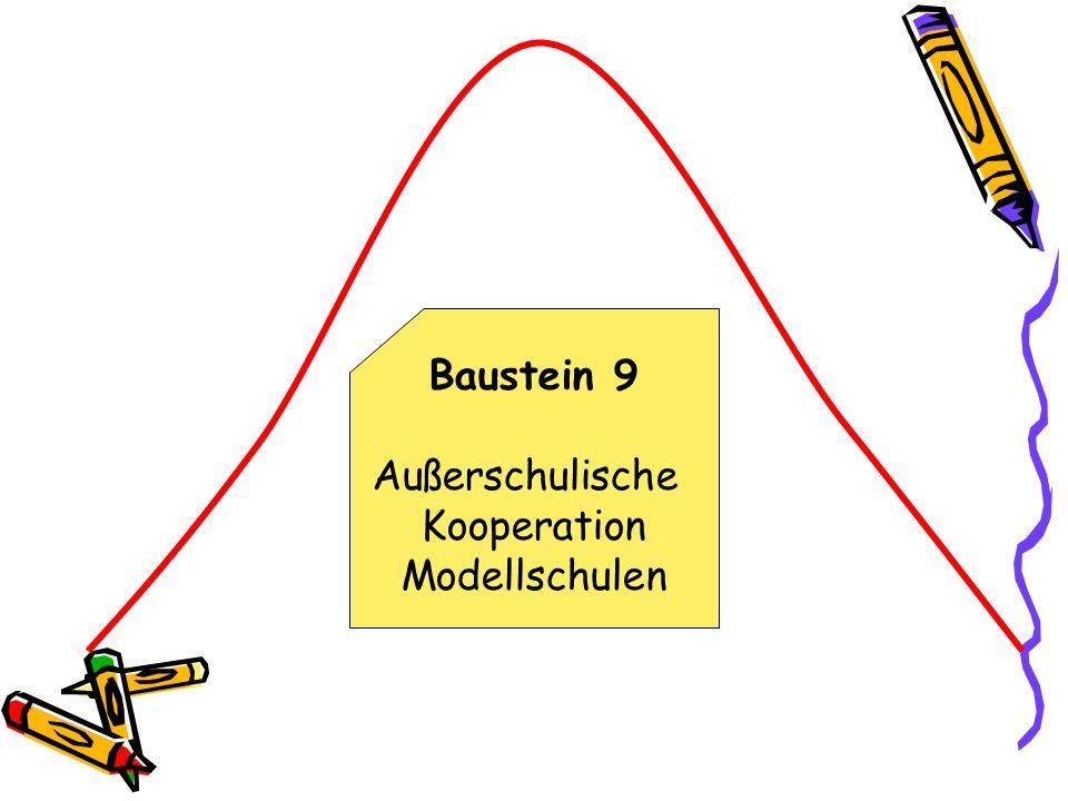 Baustein 9 Außerschulische Kooperation Modellschulen