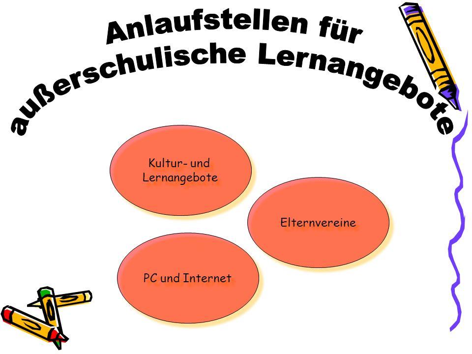 Kultur- und Lernangebote Kultur- und Lernangebote Elternvereine PC und Internet
