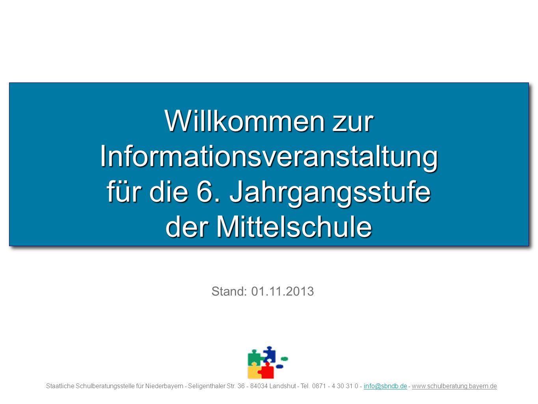 Willkommen zur Informationsveranstaltung für die 6.