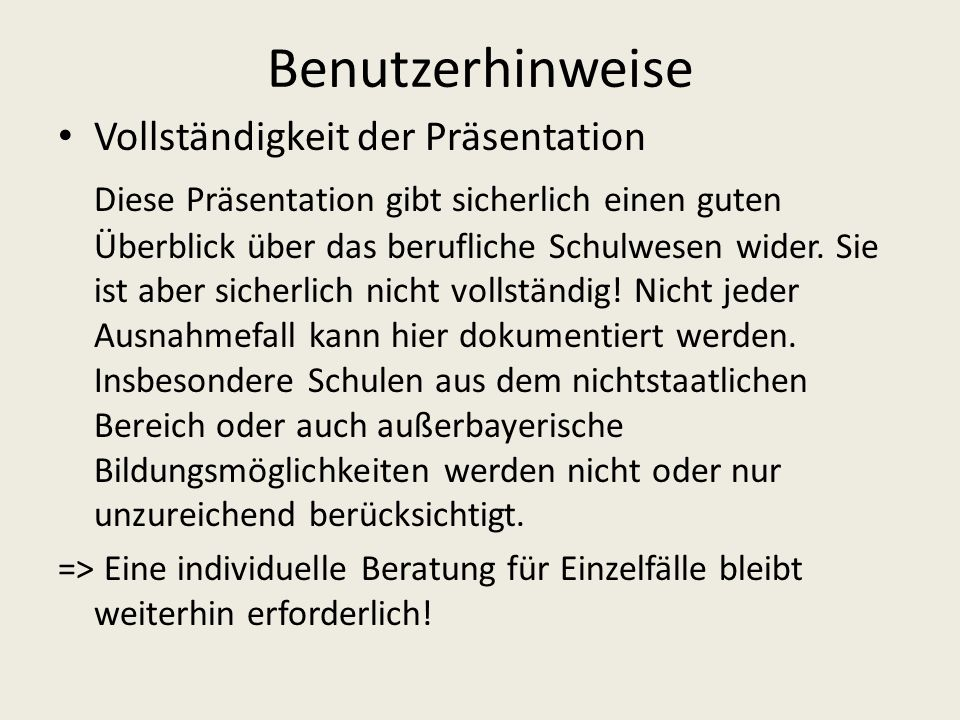 Beispiel 1: 4 JahreGrundschule => Übertritt Gymnasium 8 JahreGymnasium => Abitur 12 Jahre Staatliche Schulberatungsstelle für Niederbayern - Seligenthaler Str.