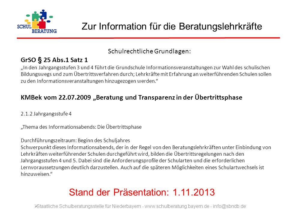 Informationsveranstaltung der Grundschule … für die 4.