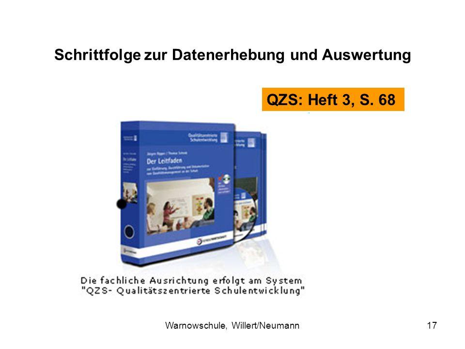 Warnowschule, Willert/Neumann17 Schrittfolge zur Datenerhebung und Auswertung QZS: Heft 3, S. 68
