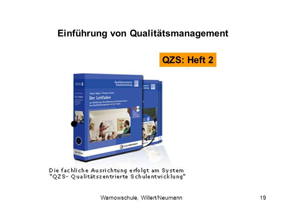 Warnowschule, Willert/Neumann19 Einführung von Qualitätsmanagement QZS: Heft 2
