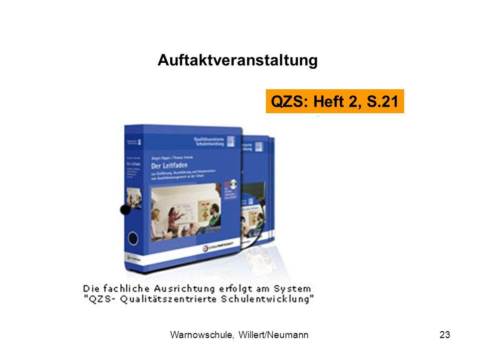 Warnowschule, Willert/Neumann23 Auftaktveranstaltung QZS: Heft 2, S.21