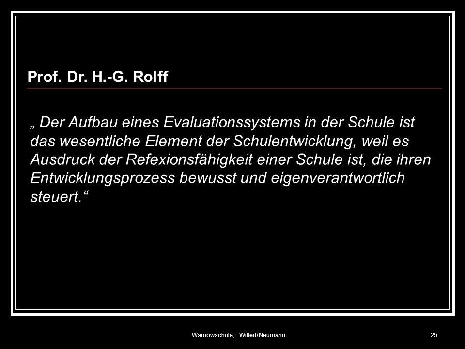 Warnowschule, Willert/Neumann25 Prof.Dr. H.-G.
