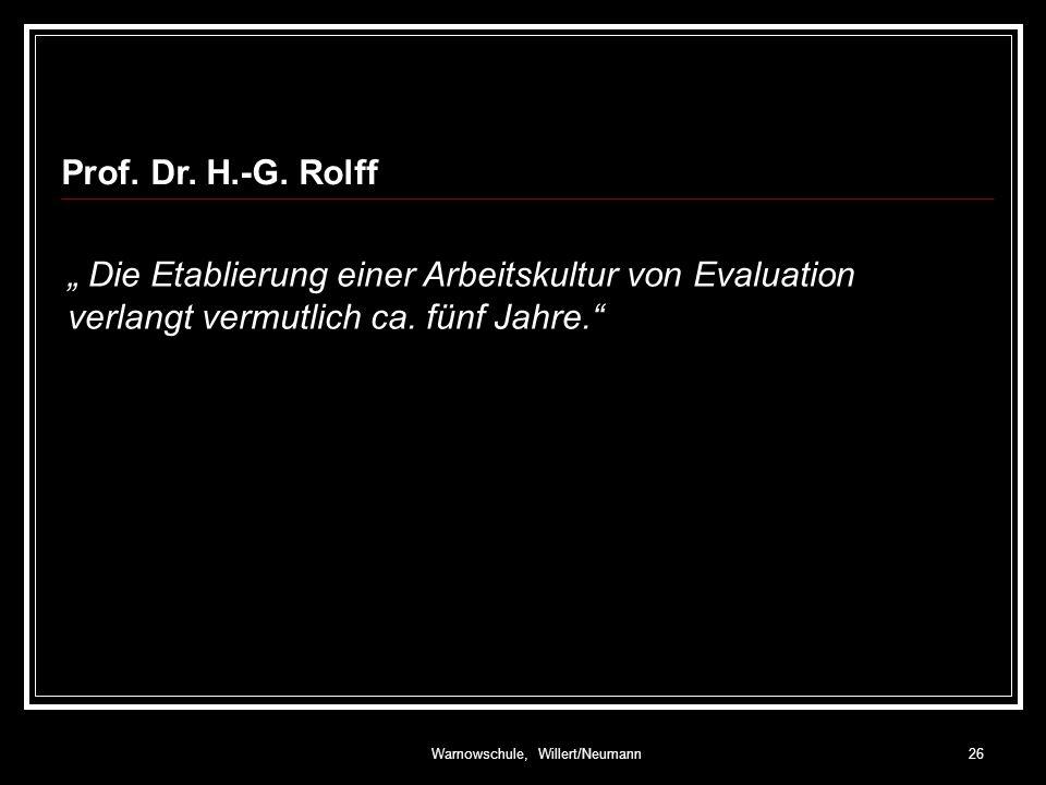 Warnowschule, Willert/Neumann26 Prof.Dr. H.-G.