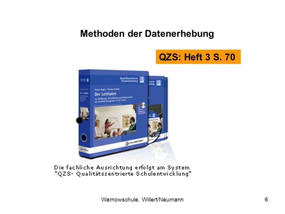 Warnowschule, Willert/Neumann6 QZS: Heft 3 S. 70 Methoden der Datenerhebung