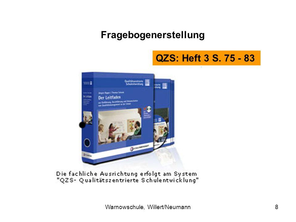 Warnowschule, Willert/Neumann8 QZS: Heft 3 S. 75 - 83 Fragebogenerstellung