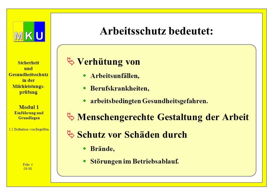 Sicherheit und Gesundheitsschutz in der Milchleistungs- prüfung Typische Stäube in der Landwirtschaft 5.1.3 Stäube Bindegewebsveränderungen Futtermittel Heu, Stroh Getreide Tierschuppen und -haare, Federn Schimmelpilzsporen (feuchtes Heu oder Stroh) Asbest (Dacheindeckungen, Decken- und Wandverkleidungen, Dichtungen, ältere Brems- und Kupplungsbeläge) !Anwendungsverbote beachten.