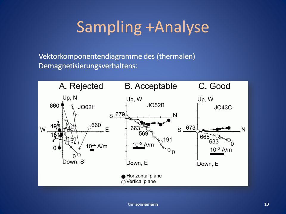 Sampling +Analyse tim sonnemann13 Vektorkomponentendiagramme des (thermalen) Demagnetisierungsverhaltens: