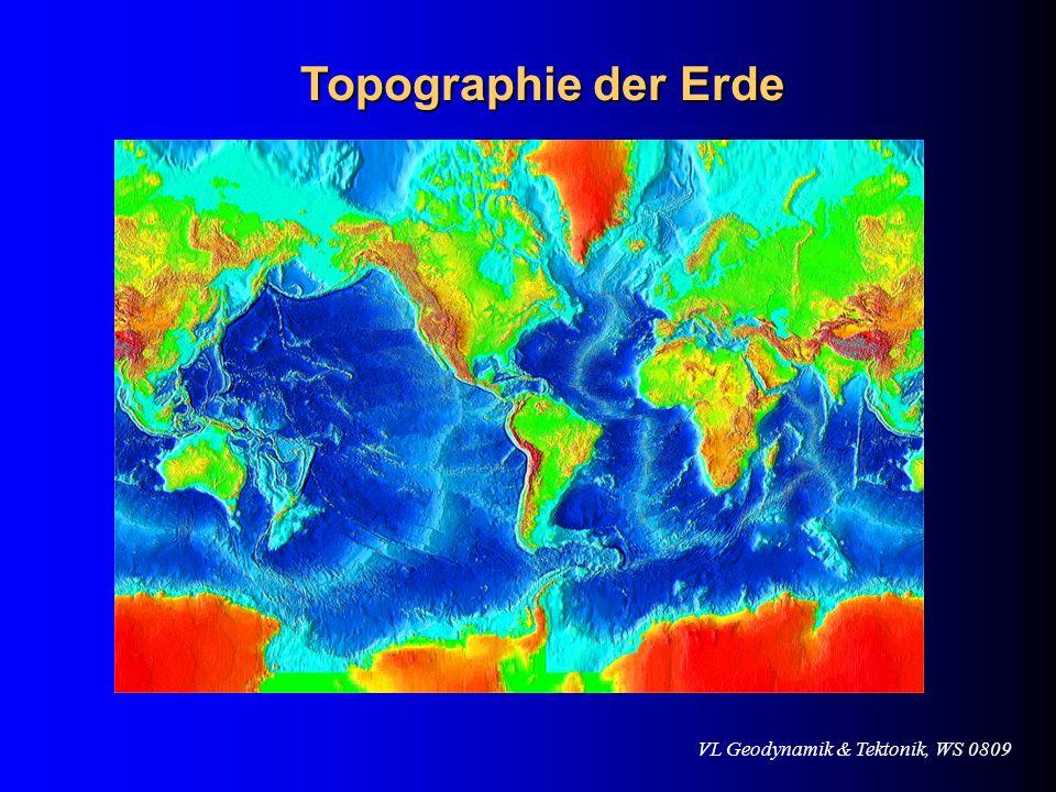 VL Geodynamik & Tektonik, WS 0809 Topographie der Erde