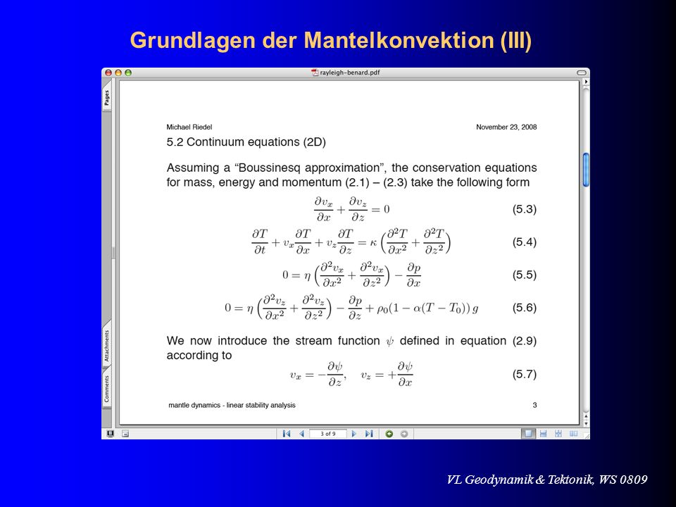 VL Geodynamik & Tektonik, WS 0809 Pratt vs.