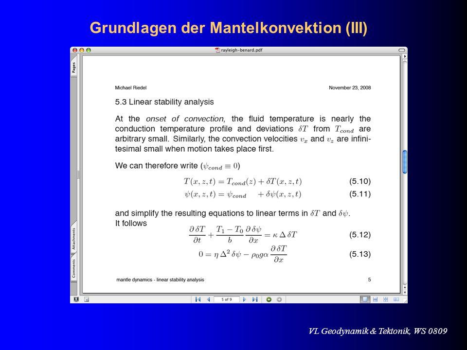 VL Geodynamik & Tektonik, WS 0809 Referenzen Global Tectonics, Global Tectonics, P.
