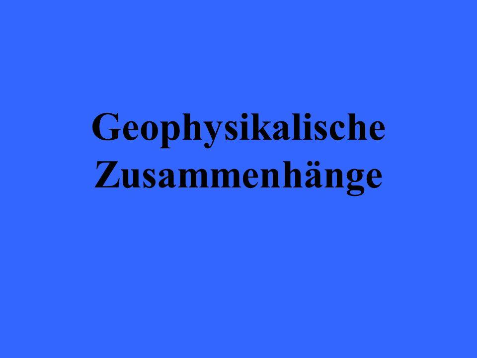 Geophysikalische Zusammenhänge