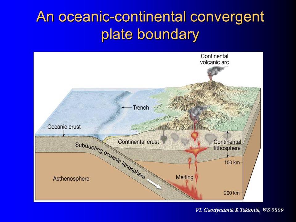 VL Geodynamik & Tektonik, WS 0809 An oceanic-continental convergent plate boundary