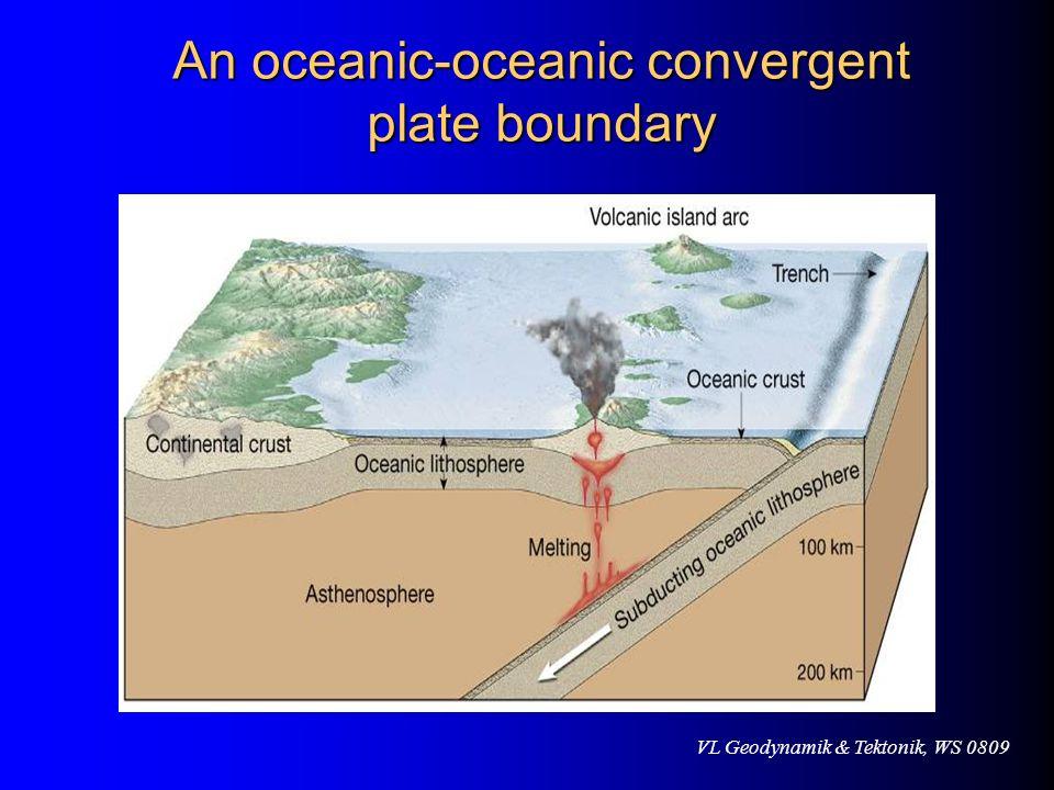 VL Geodynamik & Tektonik, WS 0809 An oceanic-oceanic convergent plate boundary