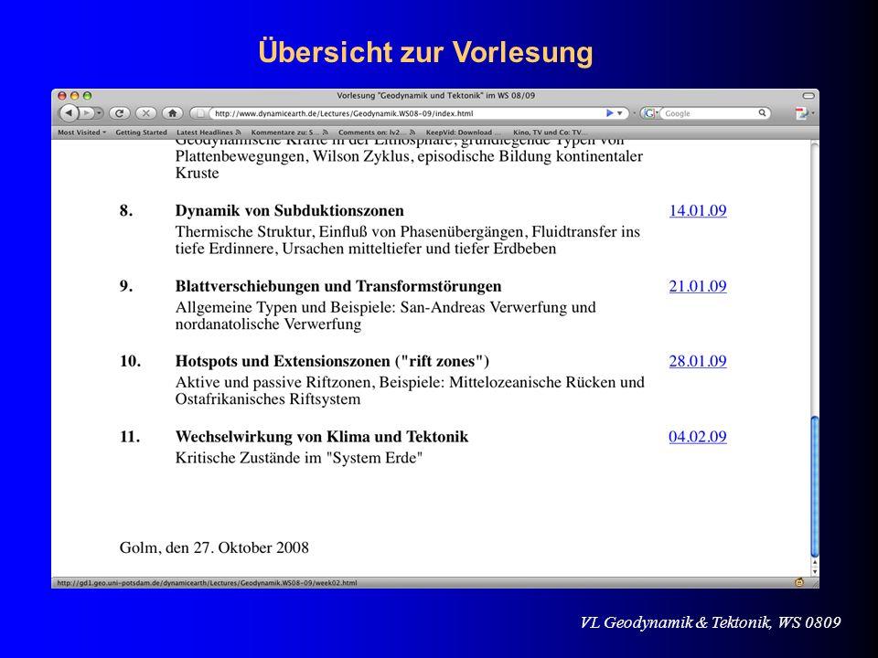 VL Geodynamik & Tektonik, WS 0809 Der Rhein Rhône-Graben Tiefe der Kruste- Mantel-Grenze
