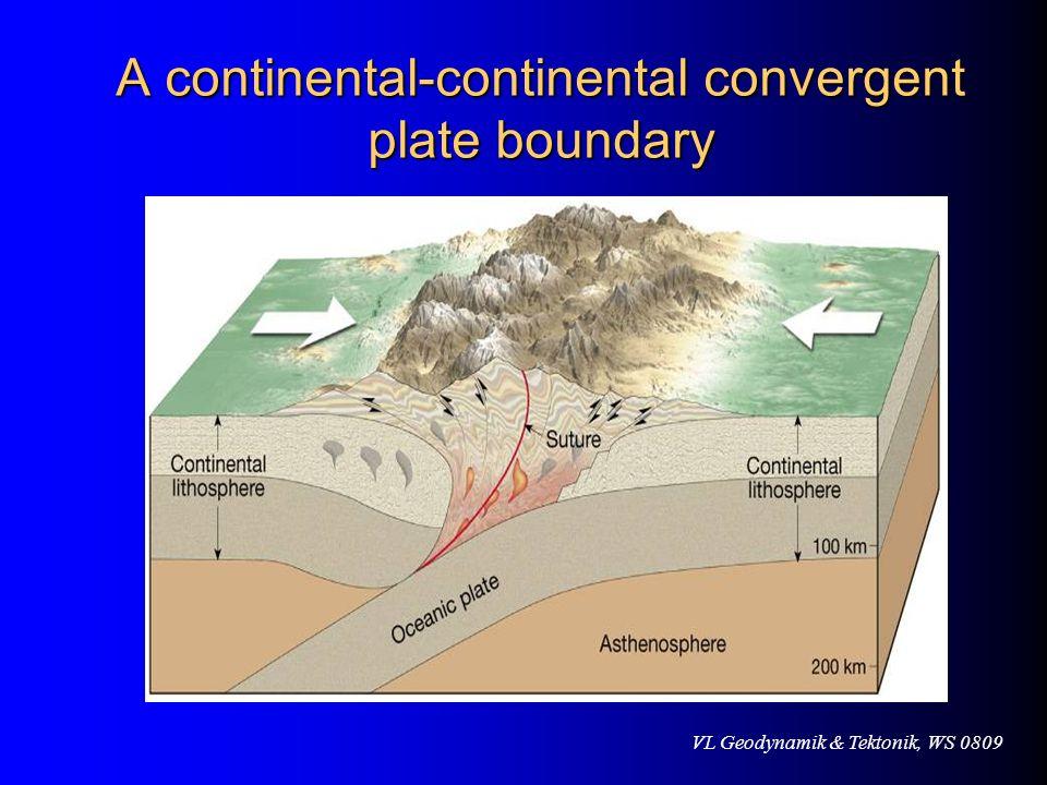 VL Geodynamik & Tektonik, WS 0809 A continental-continental convergent plate boundary