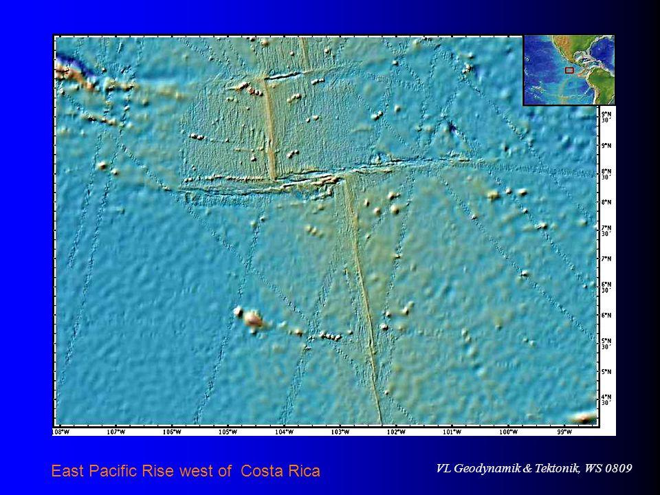 VL Geodynamik & Tektonik, WS 0809 East Pacific Rise west of Costa Rica