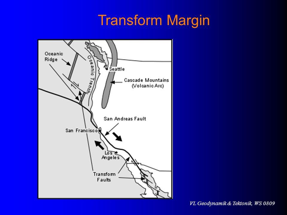 VL Geodynamik & Tektonik, WS 0809 Transform Margin