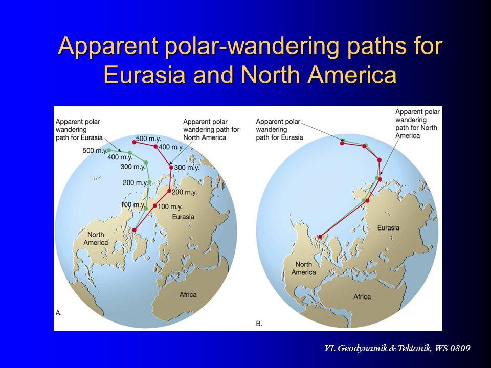 VL Geodynamik & Tektonik, WS 0809 Apparent polar-wandering paths for Eurasia and North America